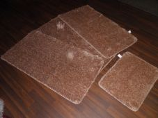 ROMANY GYPSY WASHABLES SPARKLY DESIGN SET OF 4PCS MATS NEW BEIGES/GOLDS NON SLIP